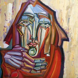 Peinture à l'huile sur toile – 50×50 cm – Betty Werlie
