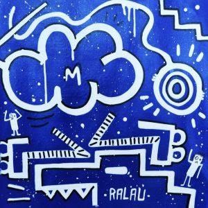 Peinture acrylique sur toile – 40×40 cm – Ralau