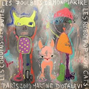 Peinture acrylique sur toile – 100×100 cm – Martine Diotalevi