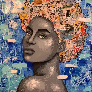 Technique mixte sur toile – 100×100 cm – YBA