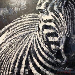 Peinture à l'huile sur toile –100×100cm – Cai