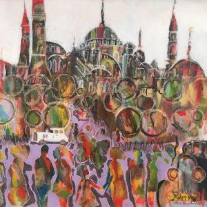 Peinture à l'huile sur toile – 50×50 cm – Kamy