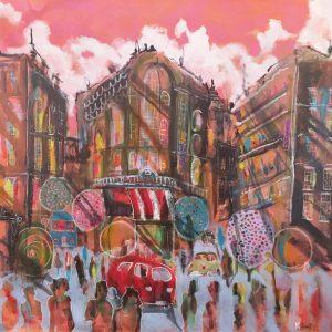 Peinture à l'huile sur toile – 80×80 cm – Kamy