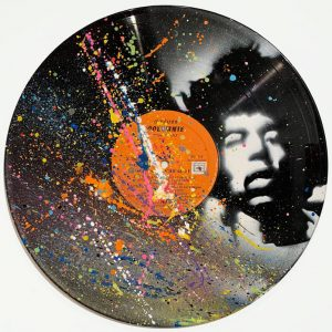 Peinture acrylique sur vinyle – 30×30 cm – Black Bird
