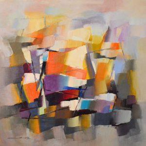 Peinture à l'huile sur toile – 80×80 cm – Xu Yi