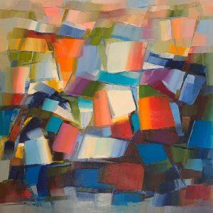 Peinture à l'huile sur toile – 100×100 cm – Xu Yi