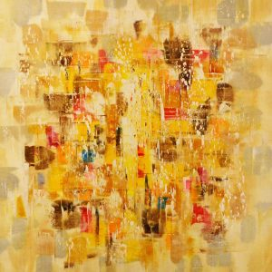 Peinture à l'huile sur toile –80×80 cm – Cheng Lou