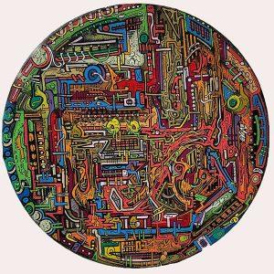 Peinture acrylique sur toile – 30×30 cm – Bisk