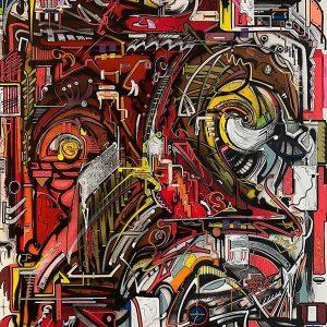 Peinture acrylique sur toile – 73×92 cm – Bisk
