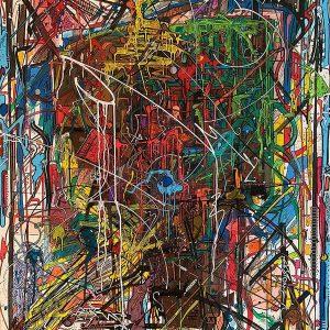 Peinture acrylique sur toile – 89×116 cm – Bisk