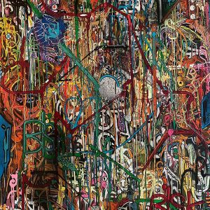 Peinture acrylique sur toile – 97×130 cm – Bisk