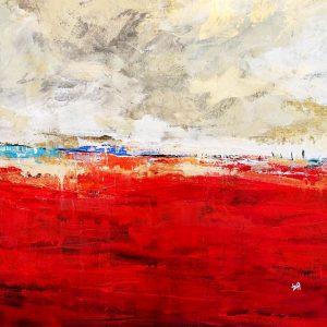 Peinture acrylique sur toile – 80×80 cm – Iza