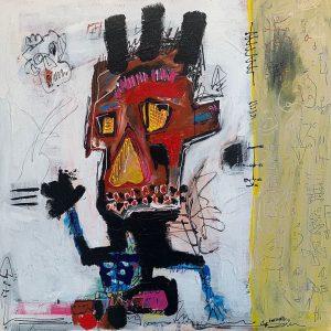 Peinture acrylique sur toile – 80×80cm – Guillaume Donsante