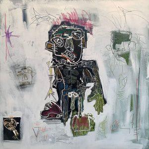 Peinture acrylique sur toile – 100×100cm – Guillaume Donsante