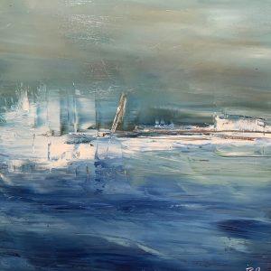 Peinture acrylique sur toile – 40×40 cm – Iza