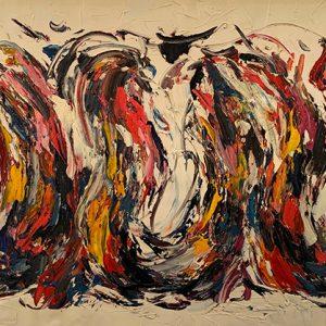 Peinture à l'huile sur toile –60×120cm – Cai